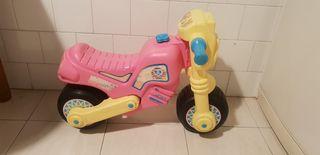 moto plastico molto infantil rosa