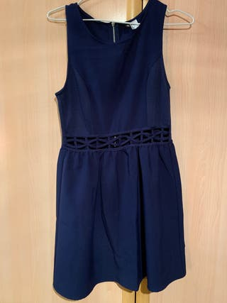 Vestido fiesta azul marino talla 36