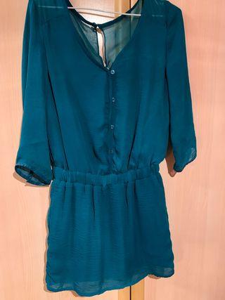 Vestido verde turquesa talla S