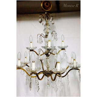 Lampara cristales antigua chandelier