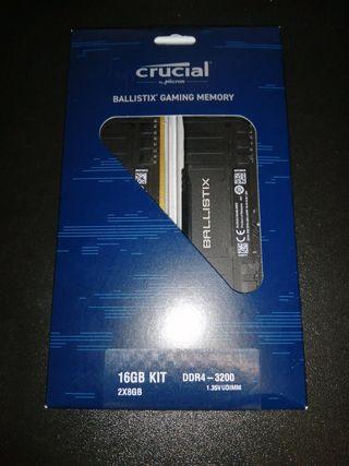 Memoria RAM 16GB DDR4-3200 nueva sin desprecintar
