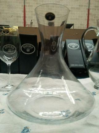 Copas de cristalería Bohemia