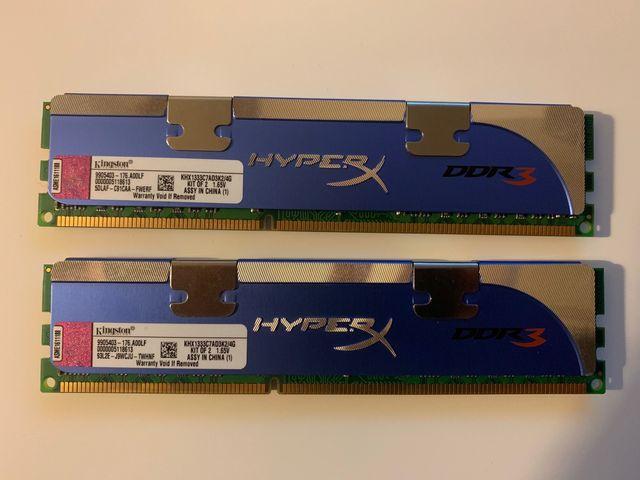 Memoria RAM 2x2GB DDR3 Kingston