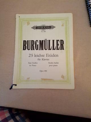25 estudios para piano de BURGMULLER