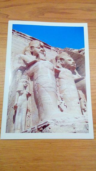 LAMINA A4 FOTO ORIGINAL ABU SIMBEL EGIPTO