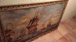 cuadro antiguo flota inglesa
