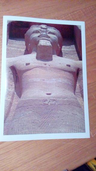 LAMINA A4 FOTO ORIGINAL ESTATUA TEMPLO EGIPTO