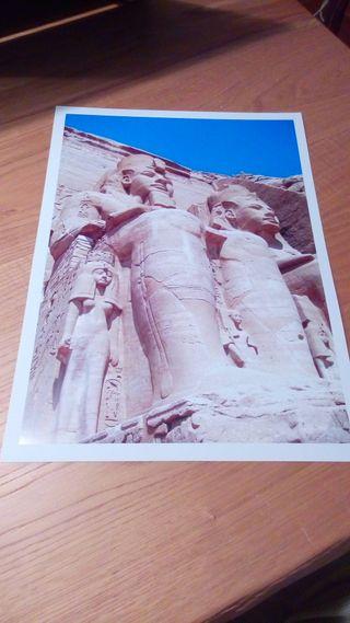LAMINA A3 FOTO ORIGINAL ABU SIMBEL EGIPTO