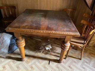 Mesa madera antigua
