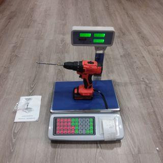 Bascula 50kg/2g Con Ticket, plataforma acero inox