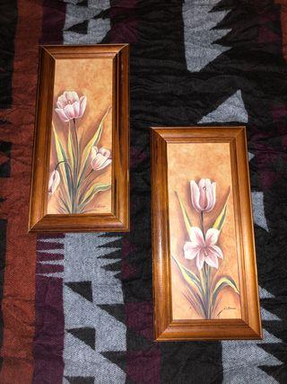 Marcos decorativos estilo rústico-floral