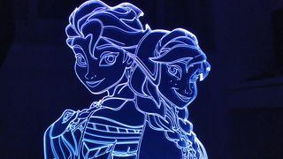 LAMPARA LED 3D FROZEN NUEVA ELSA Y ANA