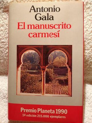 EL MANUSCRITO CARMESI. PRIMERA EDICIÓN 1990.