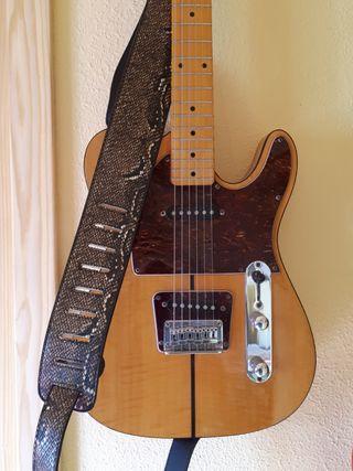 Correa bandolera piel serpiente guitarra o bajo