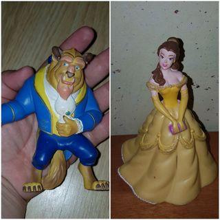 lote figuras pvc La Bella y la Bestia Disney