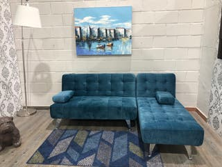 Sofá cama chaise-longue reversible