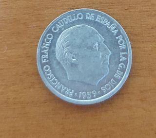 Moneda 10 céntimos de peseta.