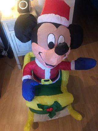 Mickey hinchable decoración Navidad