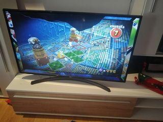 televisor LG 43 Led pantalla medio fundida