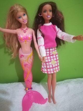 5 muñecas Barbie