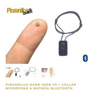 Pinganillo Nano imán + collar micro Bluetooth