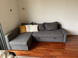 Sofa Cama esquina con almacenaje gris oscuro