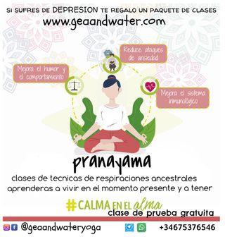 Maestra de yoga a través del Pranayama