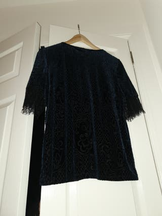 M&CO deep blue top, size 12uk (with tags)