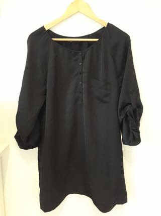 vestido negro Zara talla M