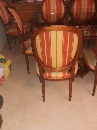 4 sillas comedor Luis XVI