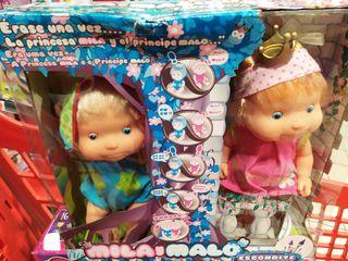 Muñecos Bebé Interactivos Mila y Malo