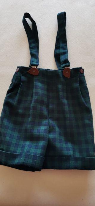 pantalón corto con tirantes niño de Picoli.