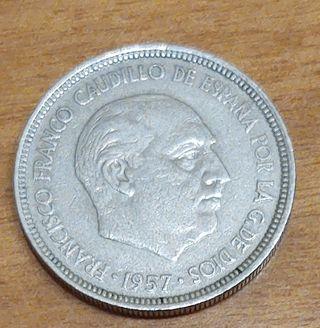 Moneda de 5 pesetas.