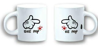 Pareja tazas Mickey-Minnie