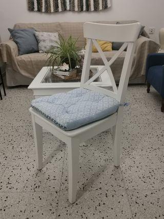 silla madera blanca