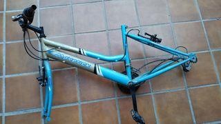 Cuadro bicicleta manillar cadena frenos