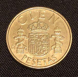 100 pesetas año 1983