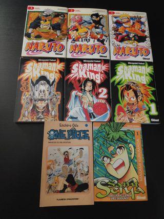 Tomos de Naruto, Shaman King y One Piece