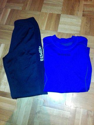 Camiseta y pantalón térmico 7 - 8 años