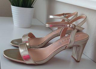 Sandalias doradas talla 38