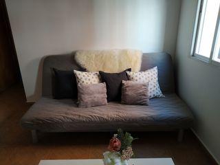 sofa cama con forro gris