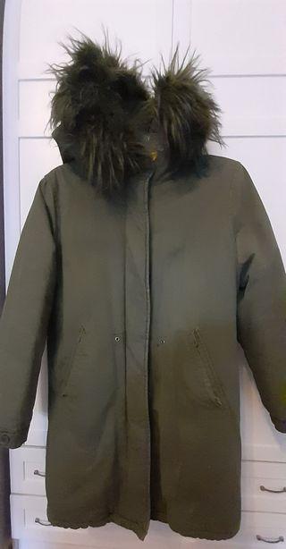 Anorak abrigo niña Zara con gorro, forrado