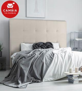 Cabezal, cabecero cama OLSON polipiel blanco 150