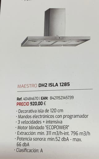 Campana TEKA DH2 ISLA 1285