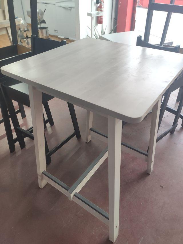 mesa alta madera