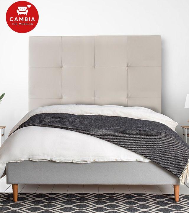 Cabezal, cabecero cama OLSON polipiel blanco 105