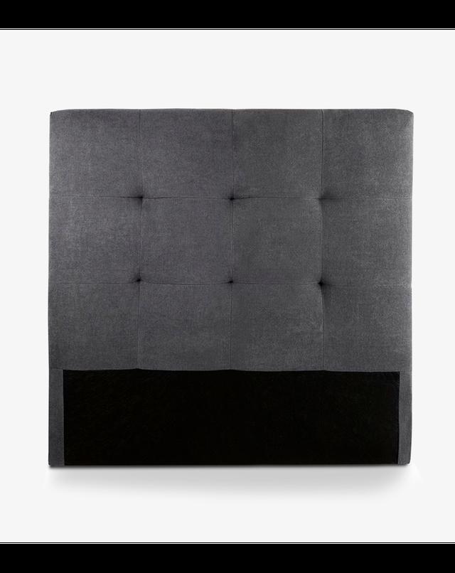 Cabezal, cabecero cama OLSON tapizado en gris 105