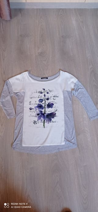 Camiseta flores,t.38
