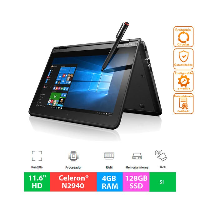 "Lenovo ThinkPad Yoga 11e - 11.6""HD Táctil - 128GB"