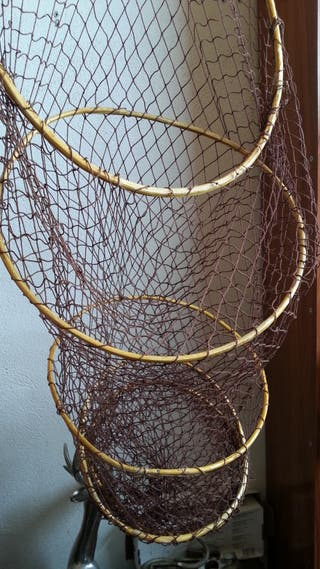 Nasa de pesca. Aros en madera.